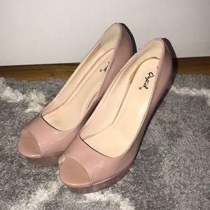 Nude Platform Stiletto Heel